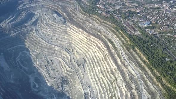Thumbnail for High Upper View Asbestos Open Cast Mining Quarry By Town