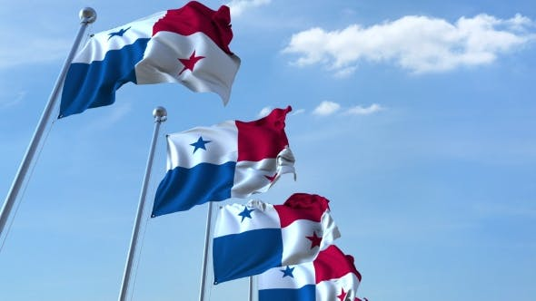 Thumbnail for Multiple Waving Flags of Panama Against the Blue Sky