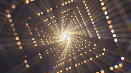 Gold Glitter Tunnel Loop V4