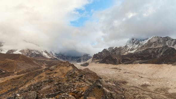 Thumbnail for of the Mountains in Himalayas, Nepal, Everest, Nuptse