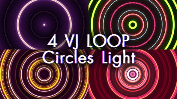 Thumbnail for VJ Loop Circles Light