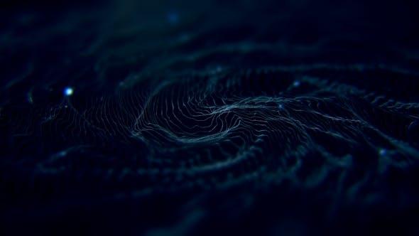 Thumbnail for Digital Futuristic Bokeh Sci-Fi Spiral