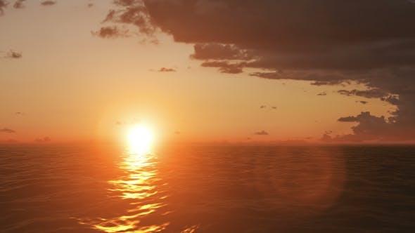 Beautiful Sunset, Amazing Colors, Light Beam Shining Through the Cloud
