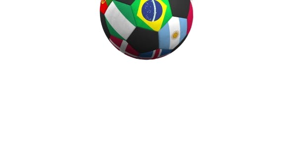 Thumbnail for Bouncing Football Ball Featuring Different National Teams Accents Flag of Brazil