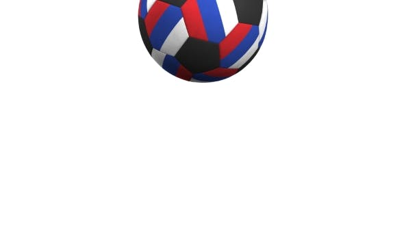 Thumbnail for Football Ball Featuring Flags of Russia