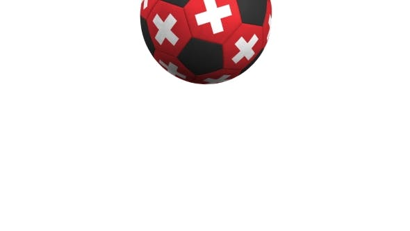 Thumbnail for Football Ball Featuring Flags of Switzerland