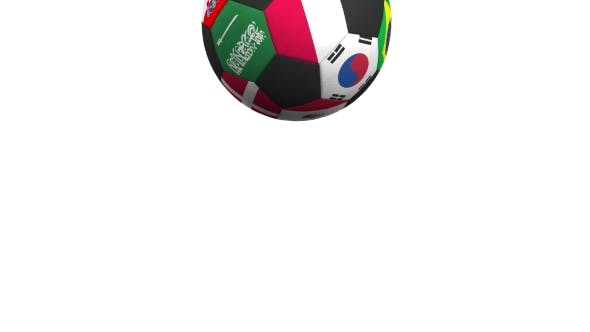 Thumbnail for Bouncing Football Ball Featuring Different National Teams Accents Flag of Poland