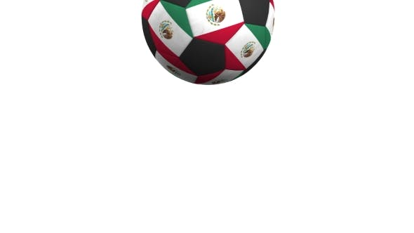Thumbnail for Football Ball Featuring Flags of Mexico
