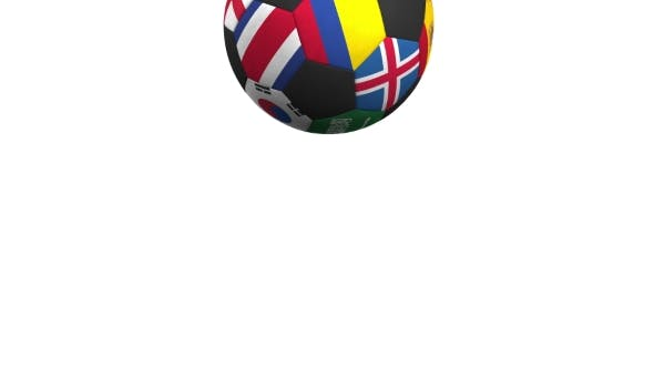 Thumbnail for Bouncing Football Ball Featuring Different National Teams Accents Flag of Colombia