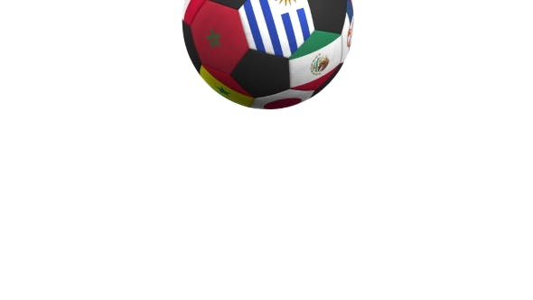 Thumbnail for Bouncing Football Ball Featuring Different National Teams Accents Flag of Uruguay