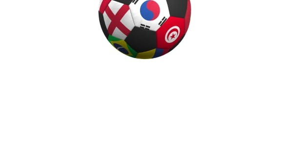 Thumbnail for Bouncing Football Ball Featuring Different National Teams Accents Flag of South Korea