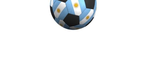 Thumbnail for Football Ball Featuring Flags of Argentina