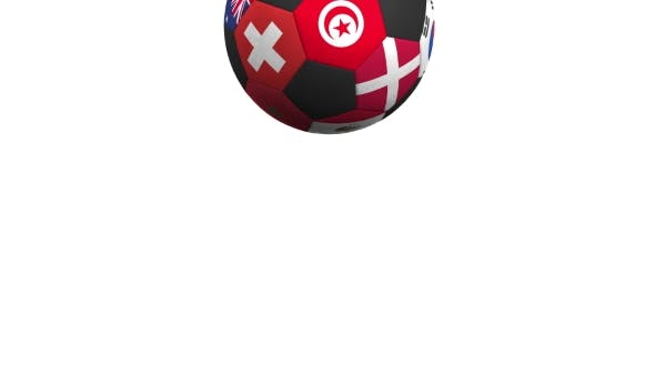 Thumbnail for Bouncing Football Ball Featuring Different National Teams Accents Flag of Tunisia
