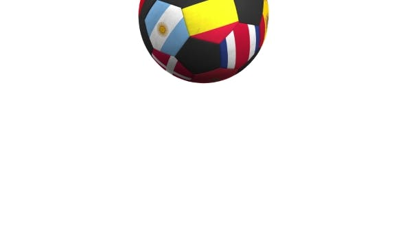 Thumbnail for Bouncing Football Ball Featuring Different National Teams Accents Flag of Belgium