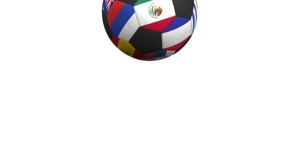 Thumbnail for Bouncing Football Ball Featuring Different National Teams Accents Flag of Mexico
