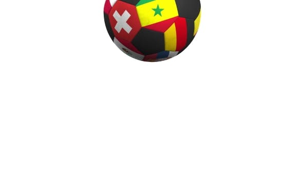 Thumbnail for Bouncing Football Ball Featuring Different National Teams Accents Flag of Senegal