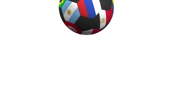 Thumbnail for Bouncing Football Ball Featuring Different National Teams Accents Flag of Russia