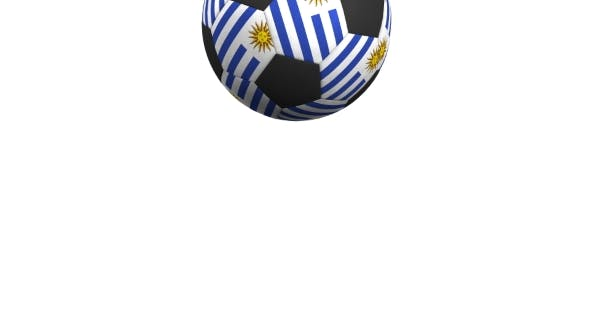 Thumbnail for Football Ball Featuring Flags of Uruguay
