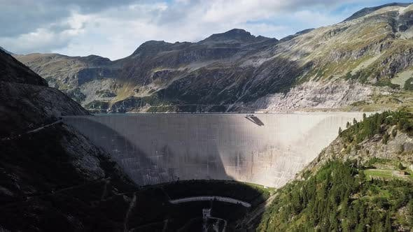 Thumbnail for Aerial View of Kolnbrein Dam in Carinthia, Austria