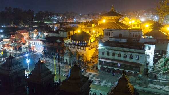 Thumbnail for View of Square in Pashupatinath Temple