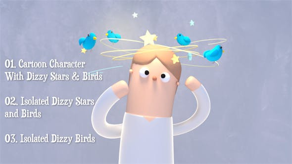 Dizzy Stars and Birds Pack