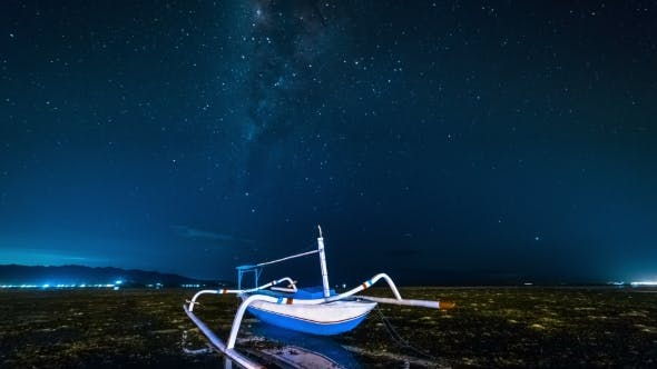 Thumbnail for Fishing Boat Aground Against the Milky Way