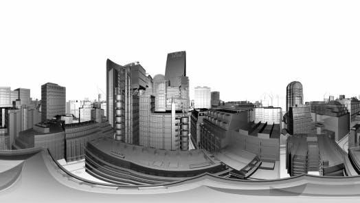 Thumbnail for VR 360 Wireframe Stadtgebäude