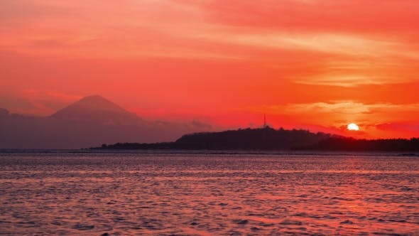Thumbnail for The Sunsets Over the Island of Gili Trawangan, Indonesia