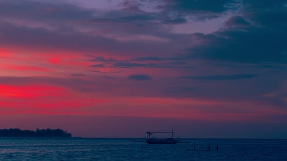 Thumbnail for Boat on the Sunset in the Gili Island, Indonesia