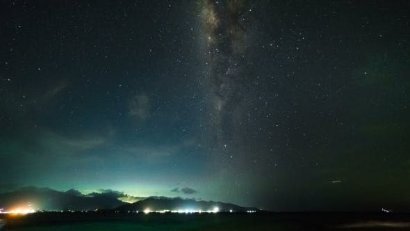 Thumbnail for Milky Way Over Beach Lombok Island, Indonesia