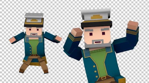 Thumbnail for Cartoon Captain Dancing