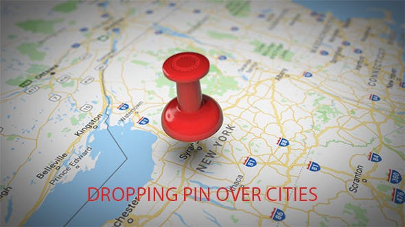 Thumbnail for Dropping Pin Over Cities