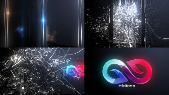 Abstract Glass Shatter Logo Opener