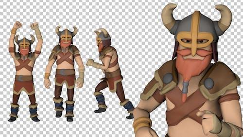 Cartoon Viking Warrior Animations