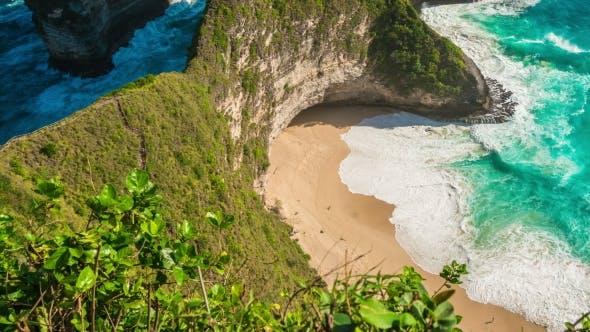 Thumbnail for Manta Bay or Kelingking Beach on Nusa Penida Island, Bali, Indonesia