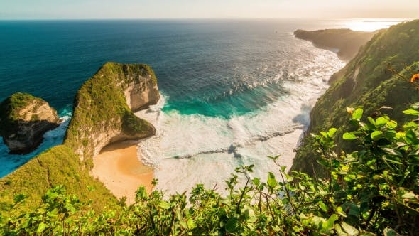 Thumbnail for Aerial View of Paluang Cliff and Coastline Klingking Beach on Nusa Penida, Indonesia