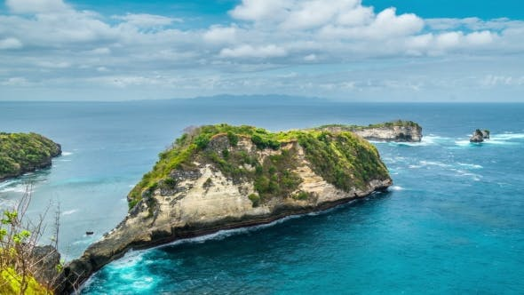 Cover Image for Rocks in the Atuh Beach at Nusa Penida Island, Bali, Indonesia