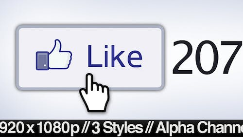 Facebook Liked Button Clicked - 3 Styles + Alpha