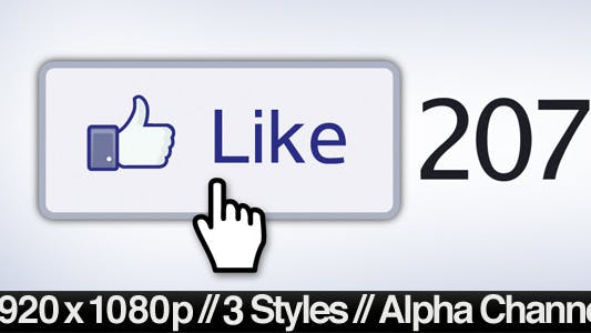 Thumbnail for Facebook Liked Button Clicked - 3 Styles + Alpha