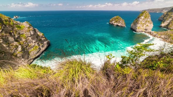Thumbnail for View From the Top To Rocky Atuh Beach at Nusa Penida Island, Bali, Indonesia