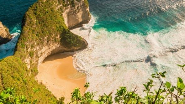 Thumbnail for Amazing Coastline Near Manta Bay or Kelingking Beach on Nusa Penida Island, Bali, Indonesia