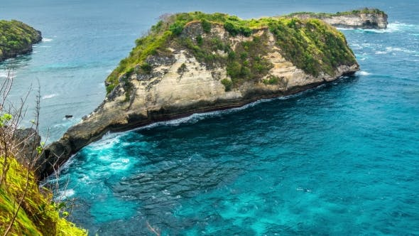 Cover Image for To Rocks in the Atuh Beach at Nusa Penida Island, Bali, Indonesia