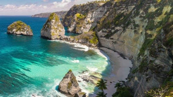 Thumbnail for Hidden White Atuh Beach at Nusa Penida Island, Bali, Indonesia