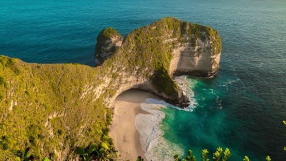 Thumbnail for Aerial  View of Karang Dawa, Kelingking Beach in Nusa Penida Island, Indonesia