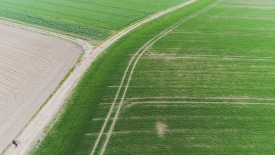 Thumbnail for Aerial View Fresh Cultivated Field