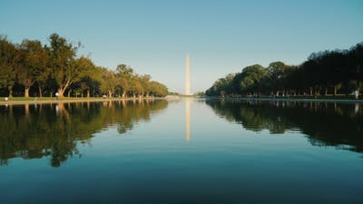 Washington Monument with Reflection in Water. Washington, DC