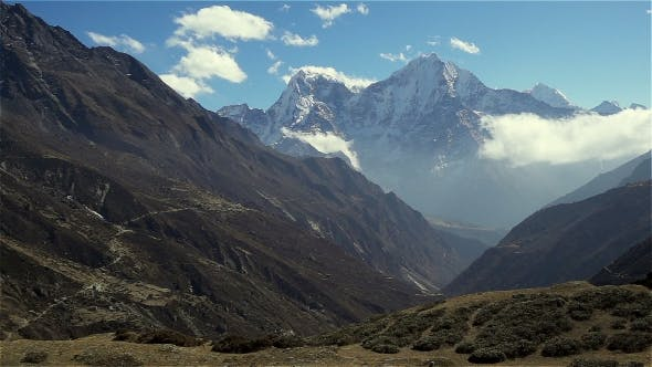 Thumbnail for Panoramic View of Mountains in Himalayas, Nepal, on the Hiking Trail Leading To the Everest Base