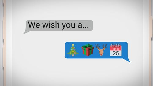 Text Messaging Holiday Greeting