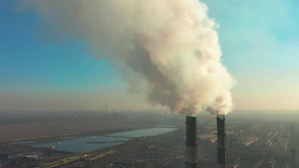 Thumbnail for Smoking Factory Chimneys. Environmental Problem of Pollution of Environment and Air in Large Cities
