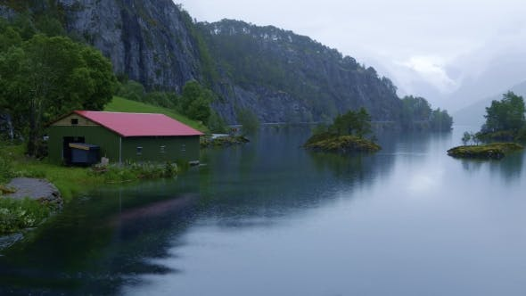 Thumbnail for Beautiful Nature Norway Lovatnet Lake.